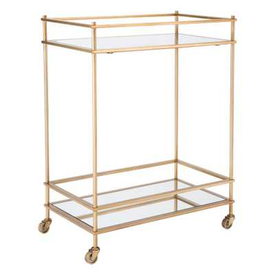 Mirrored Gold Bar Cart - Home Depot