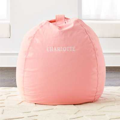 Large Pink Bean Bag Chair- insert and cover- non personalized - Crate and Barrel