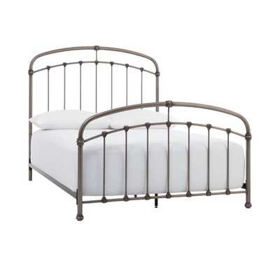 Home Decorators Collection Cloverly Pewter (Silver) Metal King Bed (77.75 in W. X 59 in H.) - Home Depot