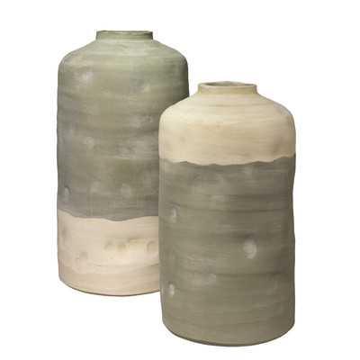 Alvan Pistachio 2 Piece Ceramic Vessels Vase Set - Wayfair