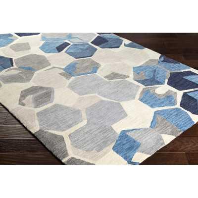 "Hebert Hand-Tufted Yellow/Gray Area Rug- Rectangle 5' x 7'6"" - AllModern"