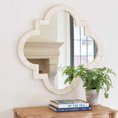 Ballard Designs Bone Quatrefoil Mirror Cobalt Blue - Ballard Designs