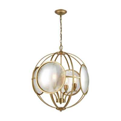 Titan Lighting Le Style Metro 4-Light Gold and Antique Mercury Glass Chandelier - Home Depot