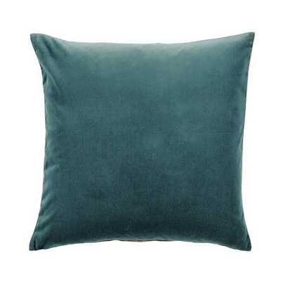 """Signature Velvet & Linen Pillow - 20""""x20"""" - Oasis - With insert - Ballard Designs"""