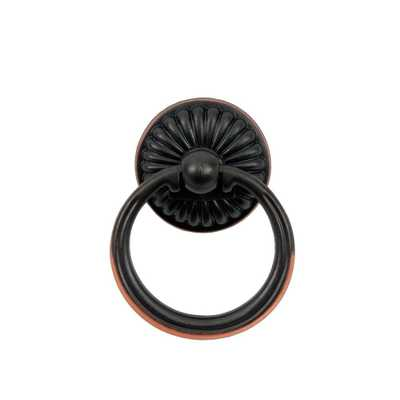 Vintage 2 in. Oil Rubbed Bronze Ring Pull - Home Depot
