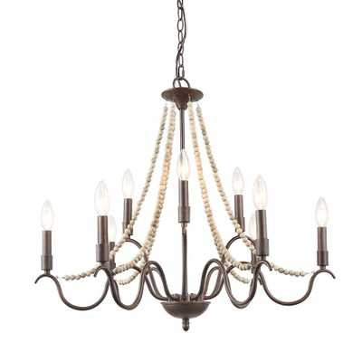 LNC Epie 28 in. 9-Light Bronze Beaded Chandelier - Home Depot