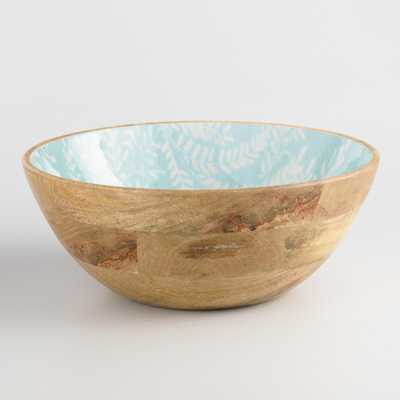 Light Blue Enamel Wood Yellowstone Serving Bowl by World Market - World Market/Cost Plus