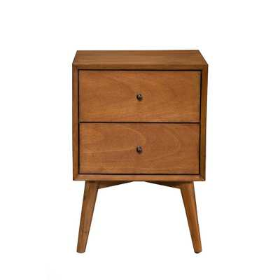Alpine Furniture Flynn Mid Century Modern 2-Drawer Acorn Nightstand, Acorn Finish - Home Depot