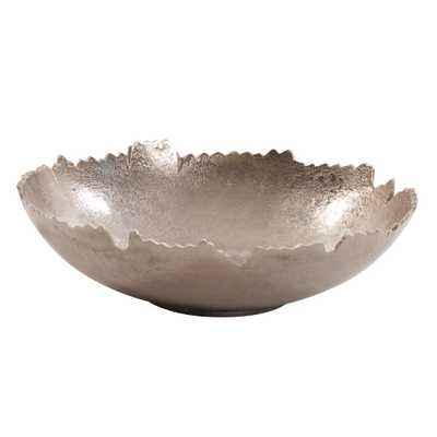 Silver Broken Edge Bowl, Metallic Silver - Home Depot