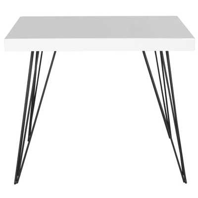 Wolcott White and Black End Table, White/Black - Home Depot