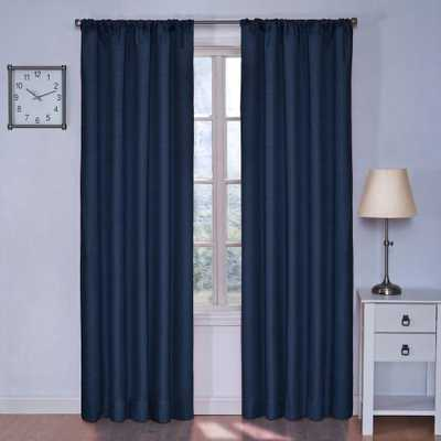 Eclipse Kendall Blackout Denim (Blue) Curtain Panel, 63 in. Length - Home Depot