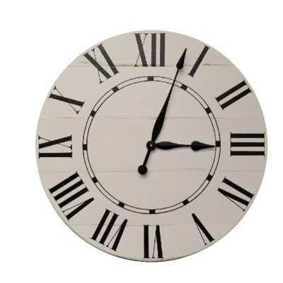 Oversized Hufnagel Farmhouse Wall Clock - Wayfair