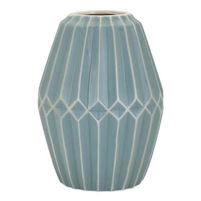 Traditional Cylinder Turquoise Table Vase - Wayfair
