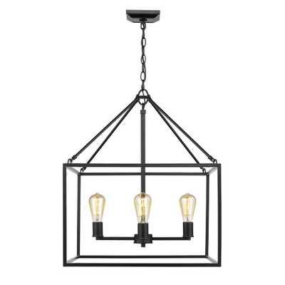 Golden Lighting Wesson 4-Light Black Chandelier - Home Depot