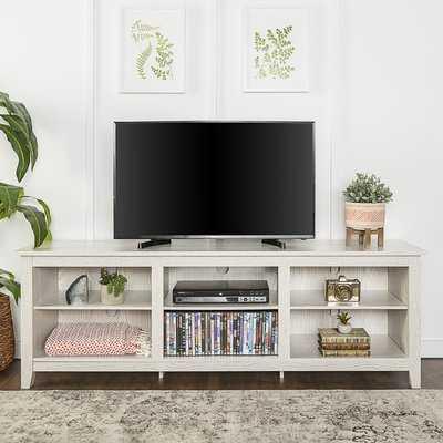 "Sunbury 70"" TV Stand with optional Fireplace - Wayfair"