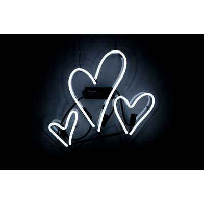 The Oliver Gal Artist Co. Oliver Gal 'Hearts' Plug-in Neon Lighted Sign, White - Home Depot