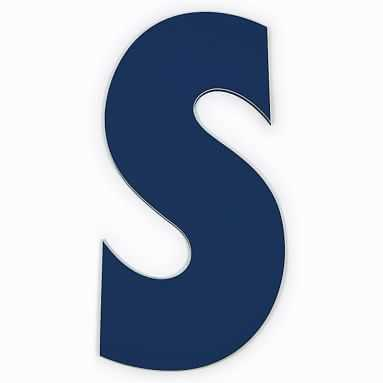 """Taylor Wall Letters, Letter S, 30"""" Painted Navy - Pottery Barn Teen"""