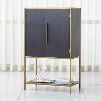 Oxford Black Bar Cabinet - Crate and Barrel