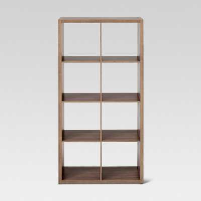 13 8-Cube Organizer Shelf Brown - Threshold, Weathered Gray - Target