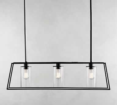 Zaire Linear Chandelier, Bronze - Pottery Barn