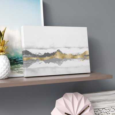 'Stood Still and Wondered Gold' Graphic Art Print on Wrapped Canvas - Wayfair
