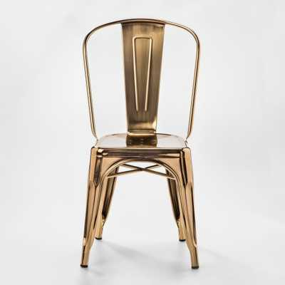 Carlisle Couture High Back Metal Dining Chair Gold - Threshold, Shiny Gold - Target