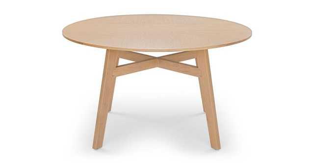Ventu Light Oak Round Dining Table - Article