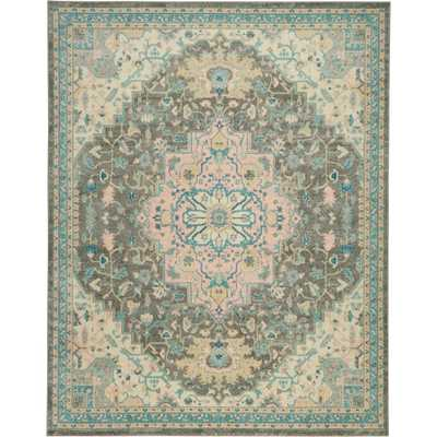 Nourison Tranquil TRA07 Pink and Grey 9'x12' Oversized Rug, Light Grey Multicolor - Home Depot