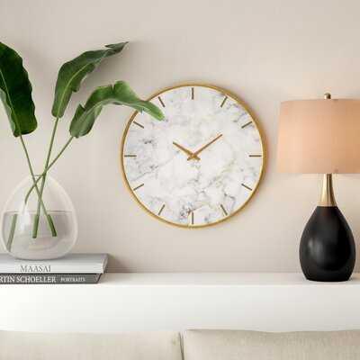 "Oversized Wendel 23.6"" Wall Clock - AllModern"