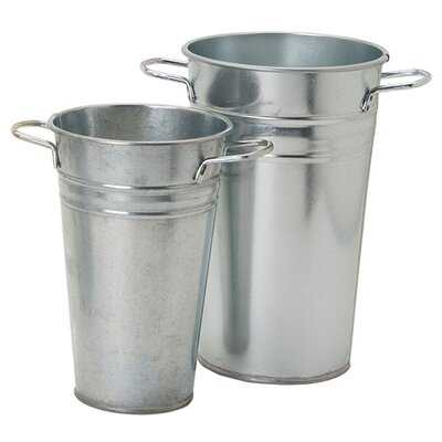Boylon Galvanized 2 Piece Floor Vase Set - Wayfair