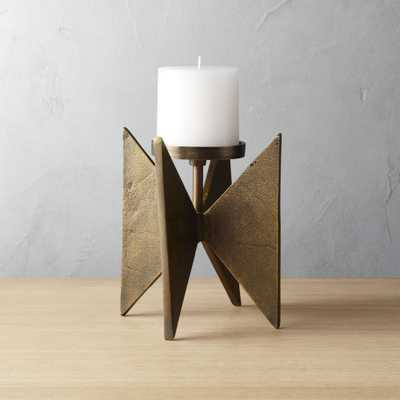 4 Star Small Pillar Candle Holder - CB2