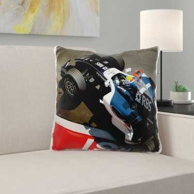 Ikat Geometrie Race Car Pillow Cover - Wayfair