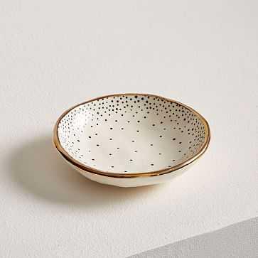 A MANO Dotted Ceramic Trinket Dish, Cascade Dot - West Elm