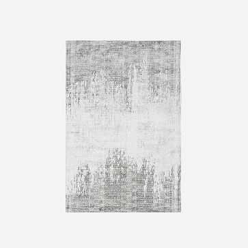 Pharaoh Rug, Platinum, 6'x9' - West Elm