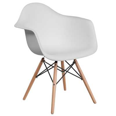 Flash Furniture White Side Chair - Home Depot