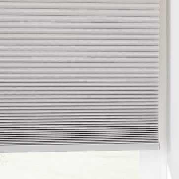 Light Filtering Cordless Cellular Shades, Platinum, 24x66 - West Elm
