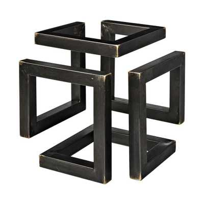 Mercana Octothorp I (Small) Decorative Object, Matte Black and Brass - Home Depot