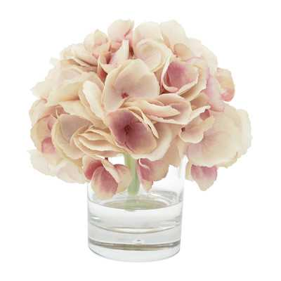 Hydrangea Bouquet in Water Floral Arrangement - Birch Lane