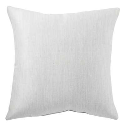 Summit Indoor/ Outdoor Solid Light Gray Throw Pillow - Wayfair