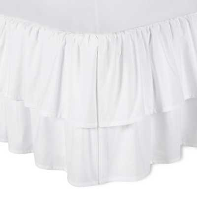 White Double Ruffle Bed Skirt (Queen) - Simply Shabby Chic - Target