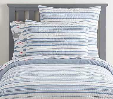 Yarn Dye Nautical Stripe Quilt, Twin, Indigo - Pottery Barn Kids