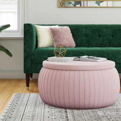 Sapphire Round Storage Ottoman - Wayfair