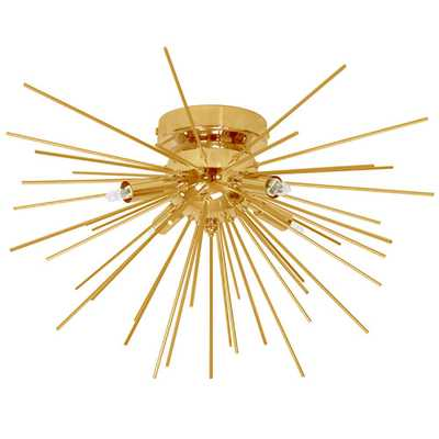Filament Design 4-Light Gold Flushmount with Electroplated Steel Shade - Home Depot
