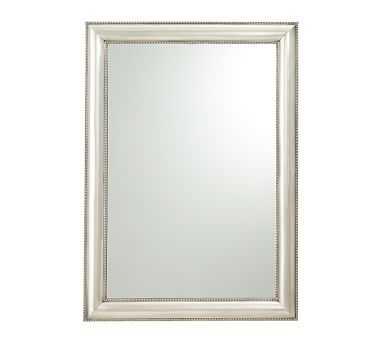 """Silver Beaded Wall Mirror, 30 x 42"""" - Pottery Barn"""