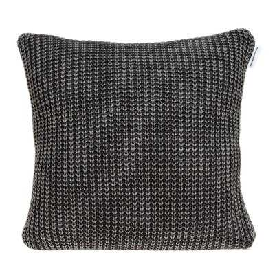 """20"""" X 7"""" X 20"""" Transitional Charcoal Pillow Cover With Down Insert - Wayfair"""