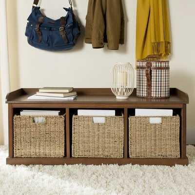 Roselli Upholstered Cubby Storage Bench - Birch Lane