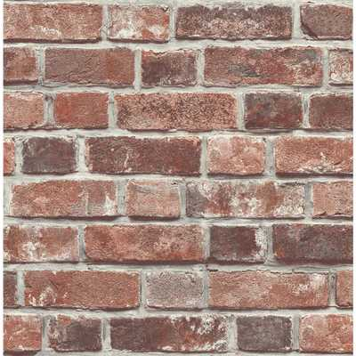 NextWall Distressed Red Brick Peel and Stick Wallpaper - Home Depot
