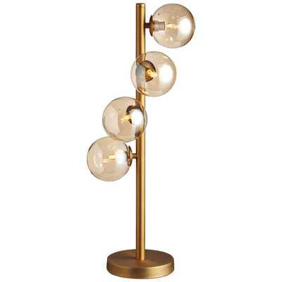 Glasgow Vintage Bronze 4-Light Halogen Table Lamp - Style # 60H88 - Lamps Plus