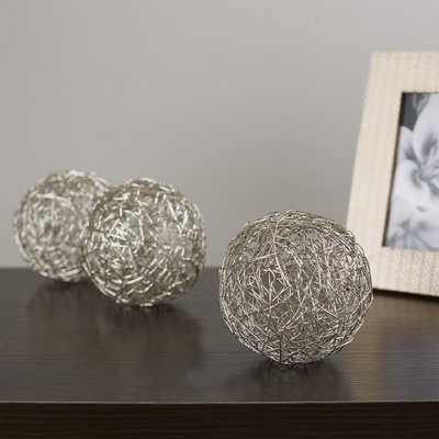 Manchester Wire Ball Sculpture Set - Wayfair