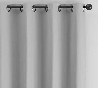 "Cameron Cotton Grommet Drape, 50 x 84"", Gray Drizzle - Pottery Barn"